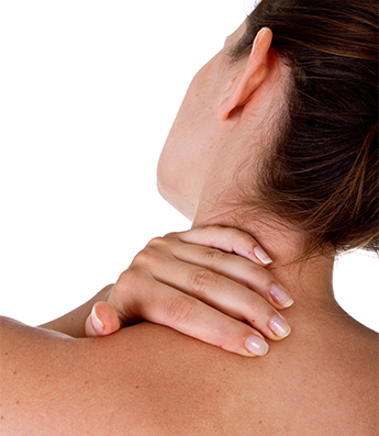 Woman with Neck Pain in Cranberry Township, PA